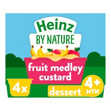 Heinz Fruit Medley Custard 4X100g