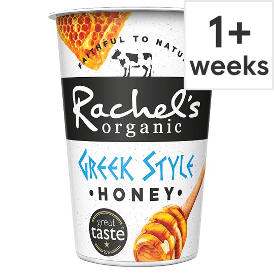 Rachel's Organic Greek Style Honey Yoghurt 450G