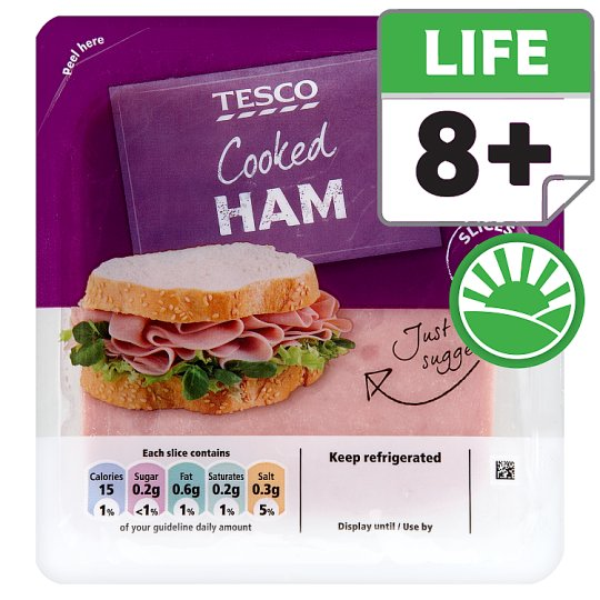Tesco Cooked Sandwich Ham 125G