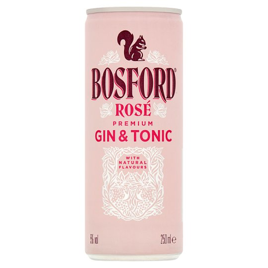 Bosford Rose Gin And Tonic 250Ml