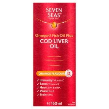 Seven Seas Cod Liver Oil Orange Flavour Liquid 150 Ml