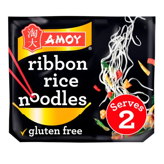 Amoy Straight To Wok Ribbon Rice Noodles 2x150g