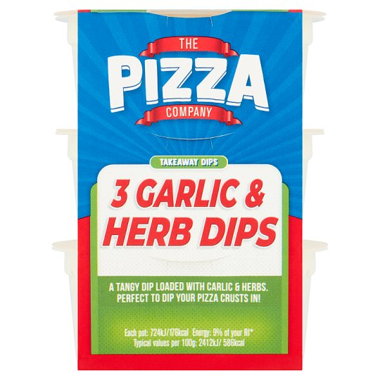 The Pizza Co. Garlic And Herb Dips 90G