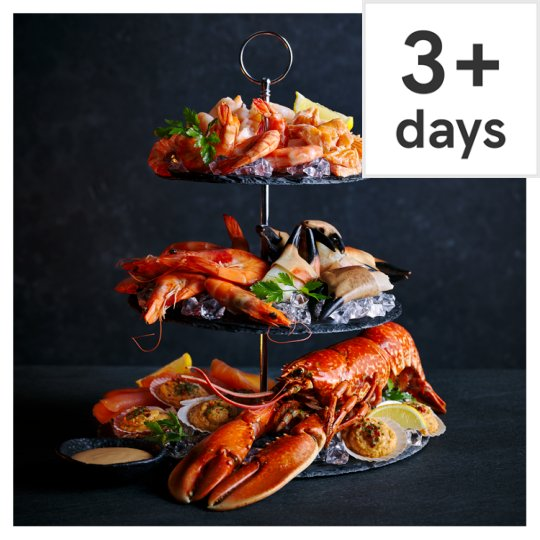 Tesco Finest 3 Tier Seafood Platter with Marie Rose Sauce 1.253kg, Serves 6