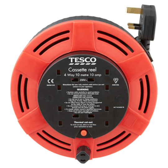 Tesco 4 Way 10M Cassette Reel