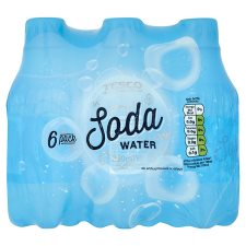 Tesco Soda Water 6X250ml
