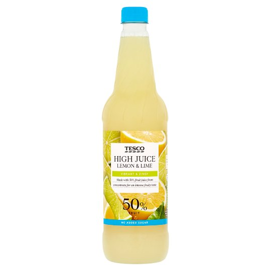 Tesco High Juice Lemon And Lime Squash No Added Sugar 1Ltr