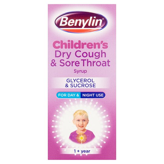 image 1 of Benylin Kids Dry Cough And Sore Throat 125Ml