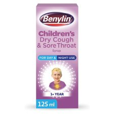 image 2 of Benylin Kids Dry Cough And Sore Throat 125Ml