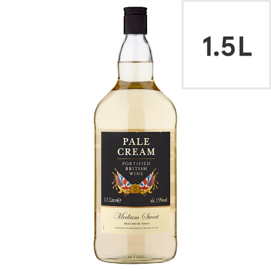 Tesco Pale Cream *F/Tied British Wine 1.5Ltr