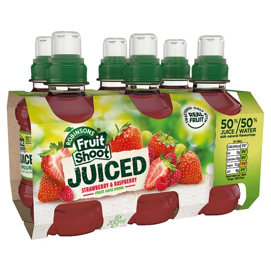 Fruit Shoot Juiced Strawberry And Raspberry 6 X 200 Ml