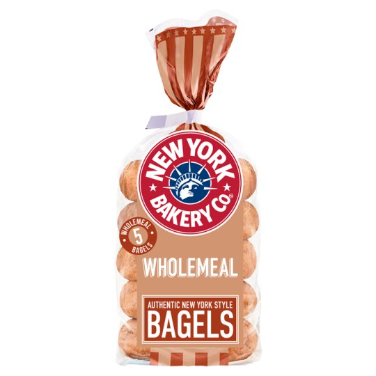 New York Bakery Wholemeal Bagels 5 Pack