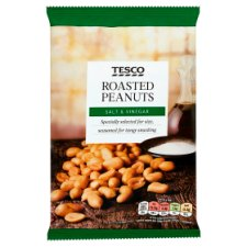 Tesco Salt And Vinegar Peanuts 200G