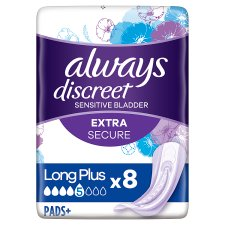 Always Discreet Long Plus Incontinence Pads 8 Pack