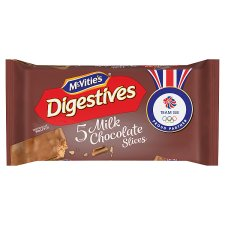 Mcvities Digestive Chocolate Slices 5 Pack 128.6G