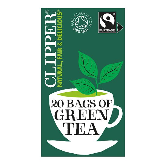 Clipper Organic Fairtrade Green Tea 20'S 40G