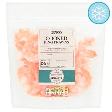 Tesco Cooked & Peeled King Prawns 200G