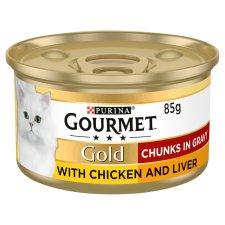 Gourmet Gold Chicken And Liver In Gravy 85G
