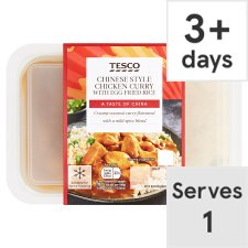 Tesco Chinese Chicken Curry With Rice 450G