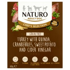 Naturo Grain Free Turkey Adult Dog Food 400G