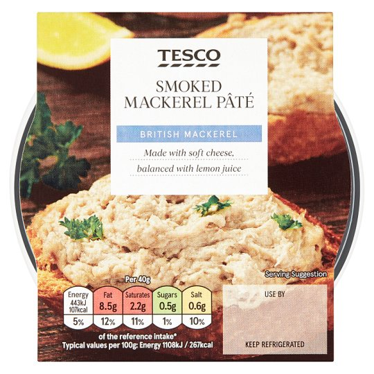Tesco Smoked Mackerel Pate 100G