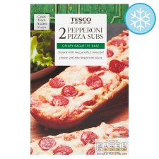 Tesco 2 Pizza Subs Pepperoni 250G