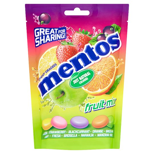 image 1 of Mentos Fruit Mix Pouch 160G