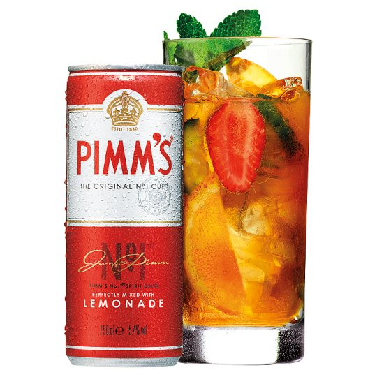 Pimm 39 s ready to drink 250ml can groceries tesco groceries for What to mix with pimms