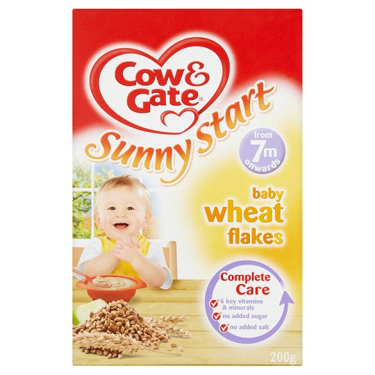 Cow And Gate Wheat Flakes 200G 7 Mth+