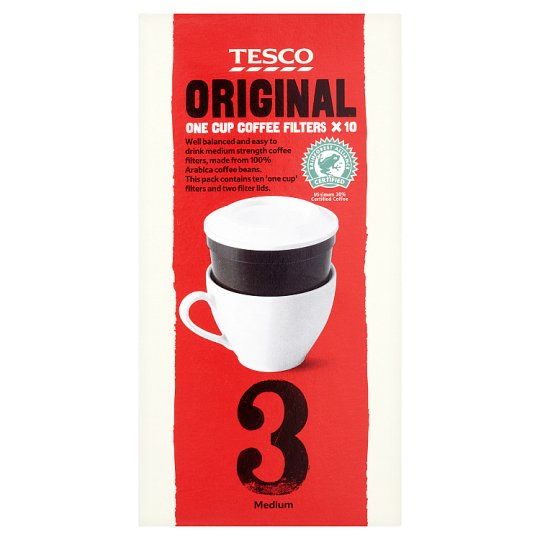 Tesco Original One Cup Filter Coffee 10 Pack 70G