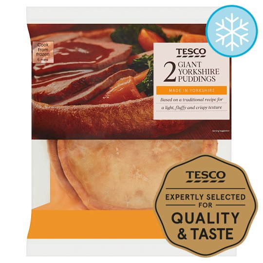 Tesco 2 Giant Yorkshire Puddings 220G