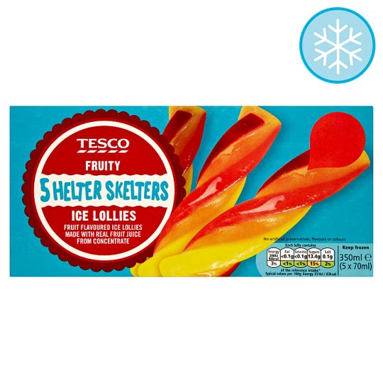 Tesco Helter Skelters 5 X 70Ml