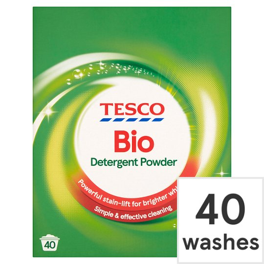 Tesco Bio. Laundry Powder 40 Wash 2.6 Kilograms