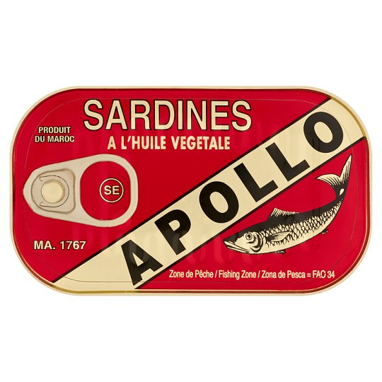 Apollo Sardines In Vegetable Oil 125G