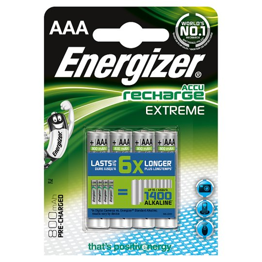 Energizer Pre-Charged Aaa 4 Pack