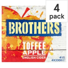 Brothers Toffee Apple Cider 4X330ml Can