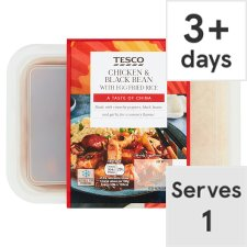 Tesco Chicken And Black Bean With Egg Fried Rice 450G