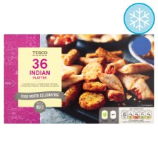 Tesco 36 Pieces Indian Platter 504G