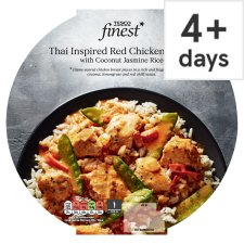 Tesco Finest Thai Red Chicken Curry And Coconut Jasmine Rice 440G