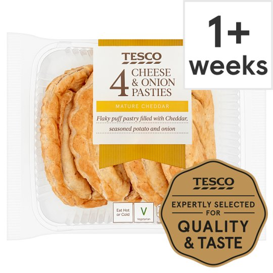 Tesco 4 Cheese And Onion Pasties 520G