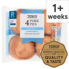 Tesco 4 Pork Pies 300G