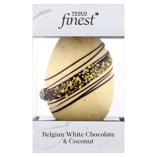 Tesco Finest Belgian White Chocolate Egg And Coconut 165G