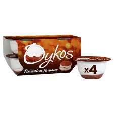 Oykos Luxury Greek Style Tiramisu Yogurt 4X110g