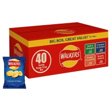 Walkers Variety Crisps Box 40X25g