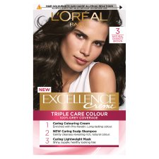 image 1 of L'oreal Paris Excellence 3 Darkest Brown