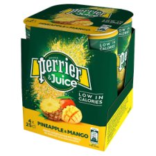 Perrier And Juice Pineapple And Mango 4X250ml
