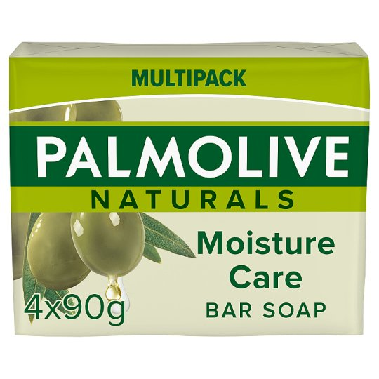 image 1 of Palmolive Naturals Moisture Care Bar Soap 4 X90g