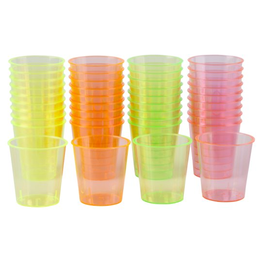 Swantex Neon Shot Glasses 40 Pack