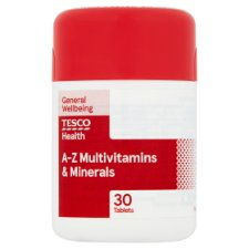 Tesco A-Z Multivitamins And Minerals 30S
