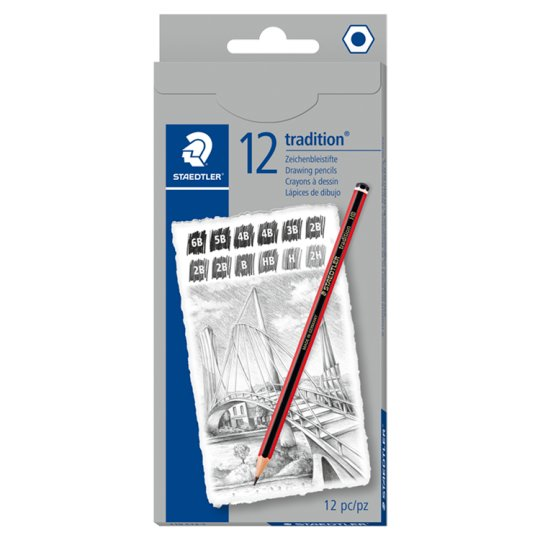 Staedtler Traditional 110 12 Sketching Pencils 2H - Hb